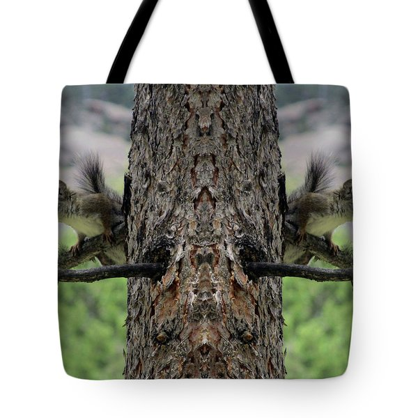 Grey Squirrels On The Look Out Tote Bag