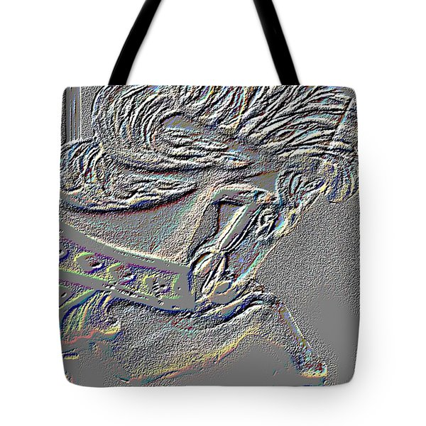 Grey Stone Carousel Horse Tote Bag