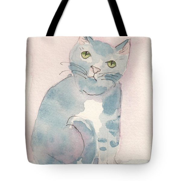 Grey Tabby Tote Bag