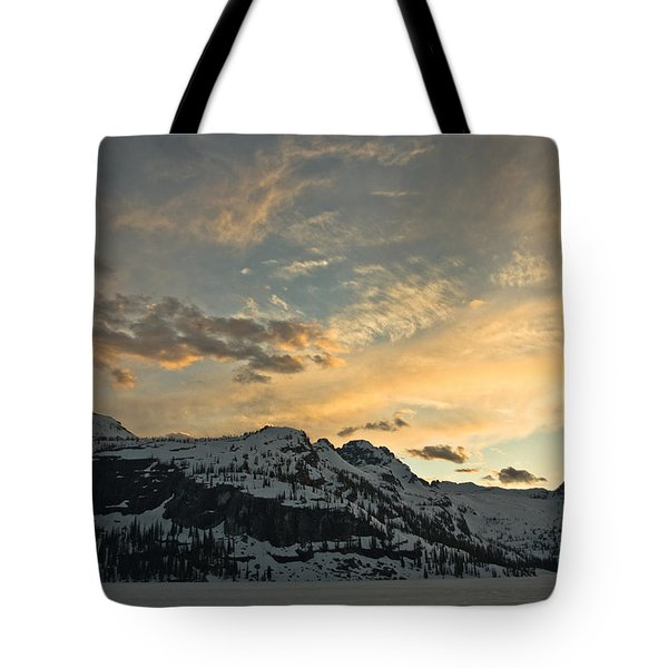 Grey Wolf Lake Tote Bag