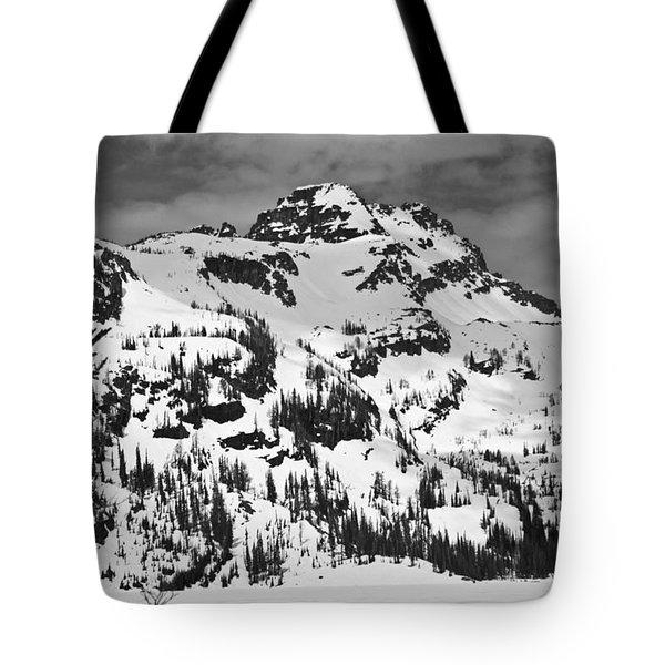 Grey Wolf Peak, Mission Mountains Tote Bag