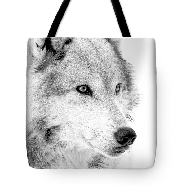 Grey Wolf Profile Tote Bag