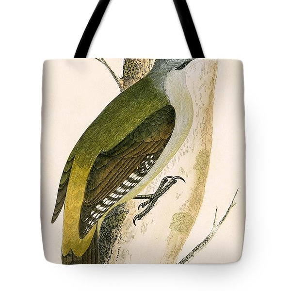 Grey Woodpecker Tote Bag