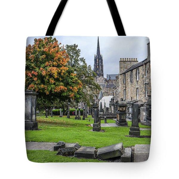 Greyfriars Kirkyard 1562  Tote Bag by Amy Fearn