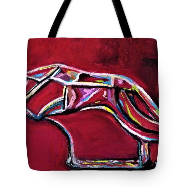 Greyhound Glass Figurine  Tote Bag by Frances Marino