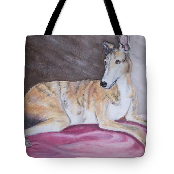Greyhound Number 2 Tote Bag by George Pedro