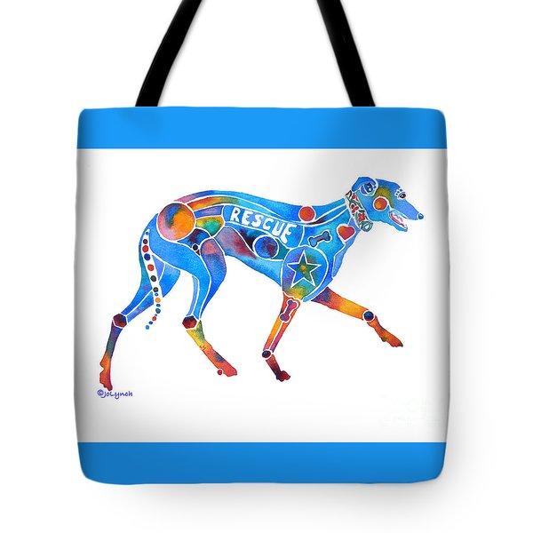 Greyhound Rescue Gffl Tote Bag by Jo Lynch
