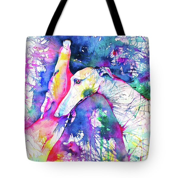 Greyhound Trance Tote Bag