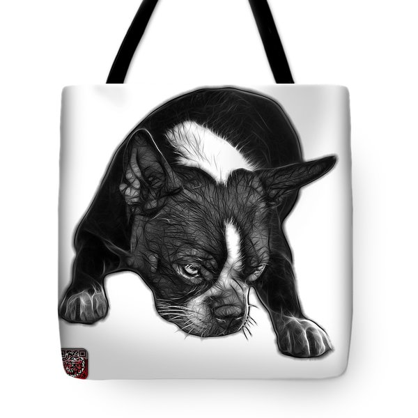 Greyscale Boston Terrier Art - 8384 - Wb Tote Bag