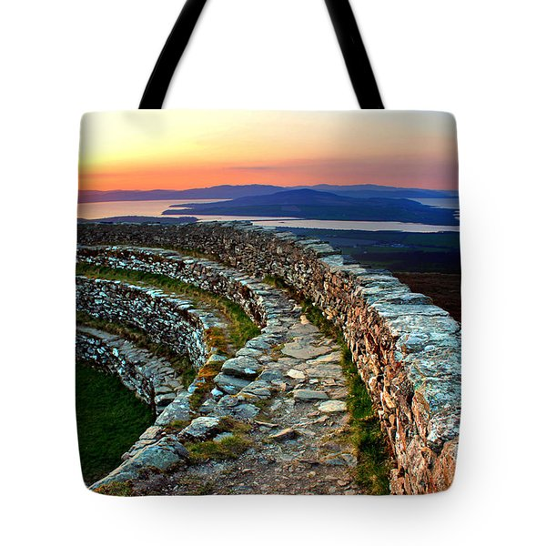 Grianan Fort Sunset Tote Bag