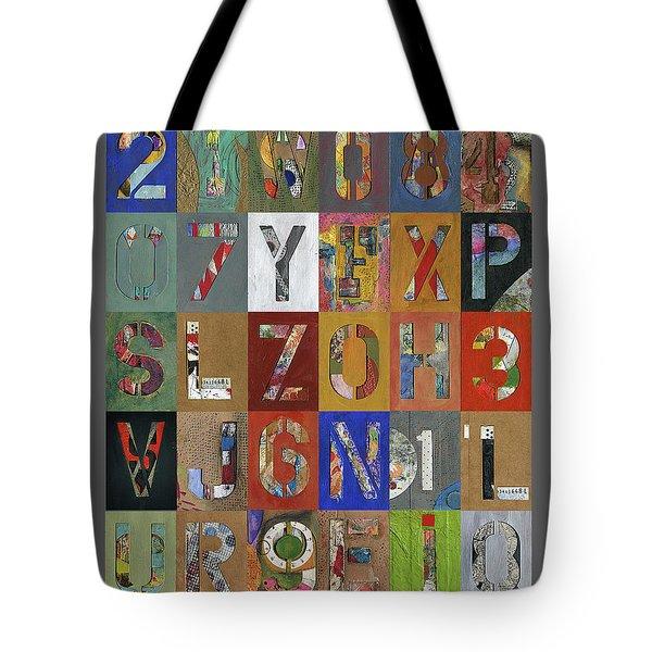 Grid Letters Tote Bag
