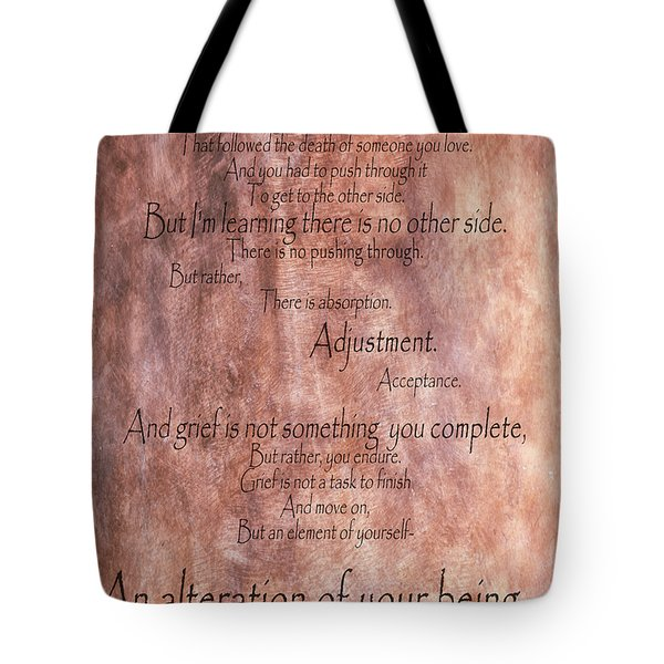 Tote Bag featuring the mixed media Grief 1 by Angelina Vick