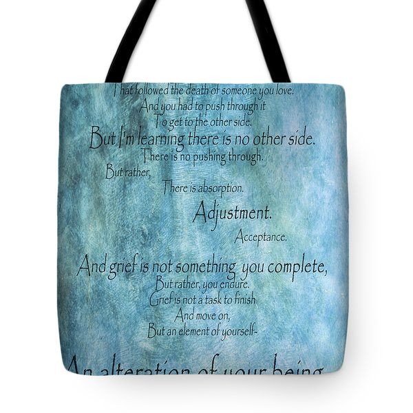 Tote Bag featuring the mixed media Grief 2 by Angelina Vick