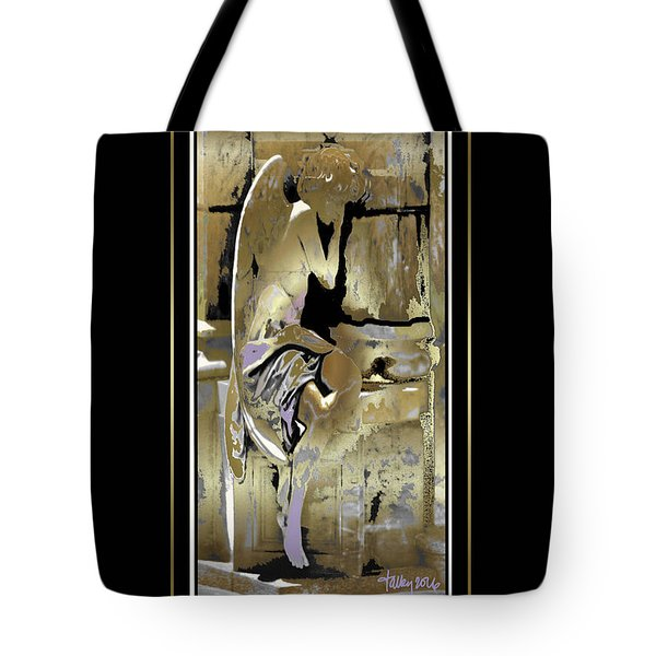 Grief Angel - Black Border Tote Bag