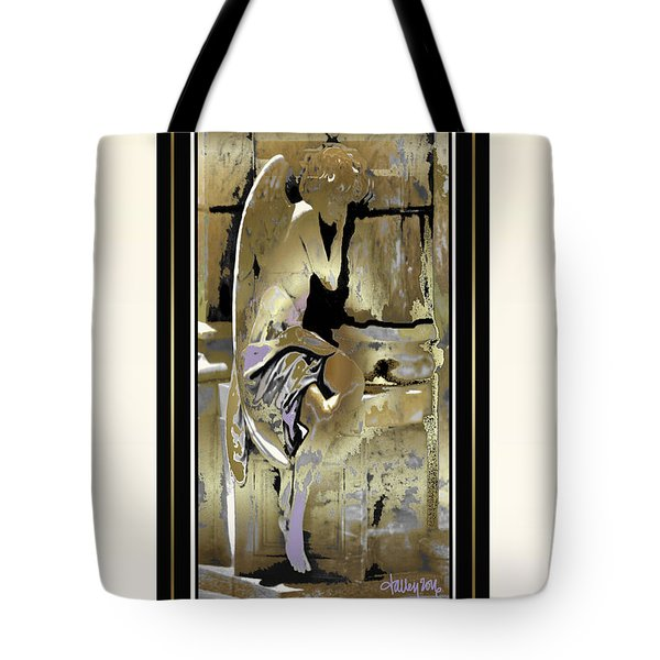 Grief Angel - Light Border Tote Bag