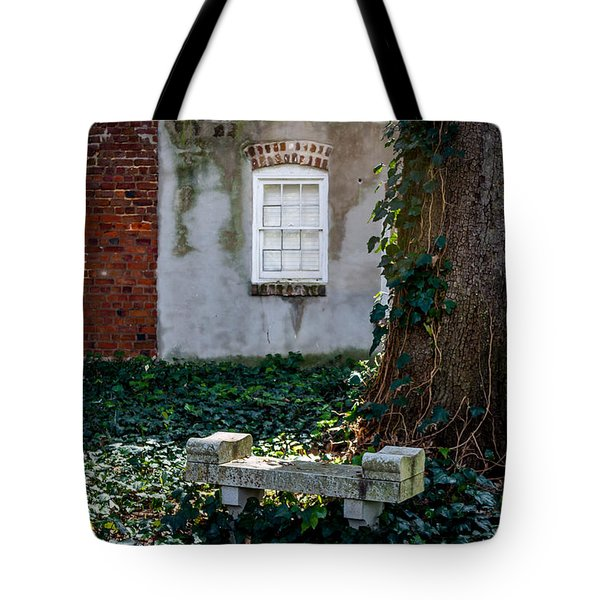 Grieving Bench At St. Philip's Cemetery Tote Bag