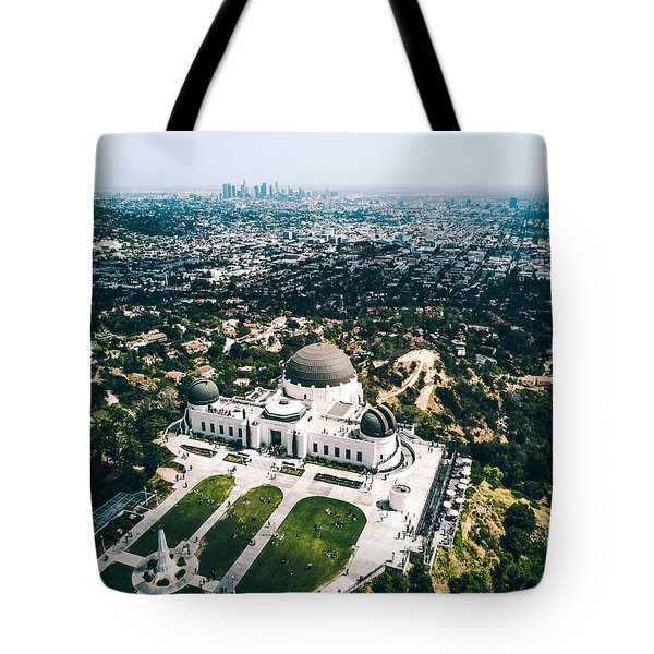 Griffith Observatory And Dtla Tote Bag