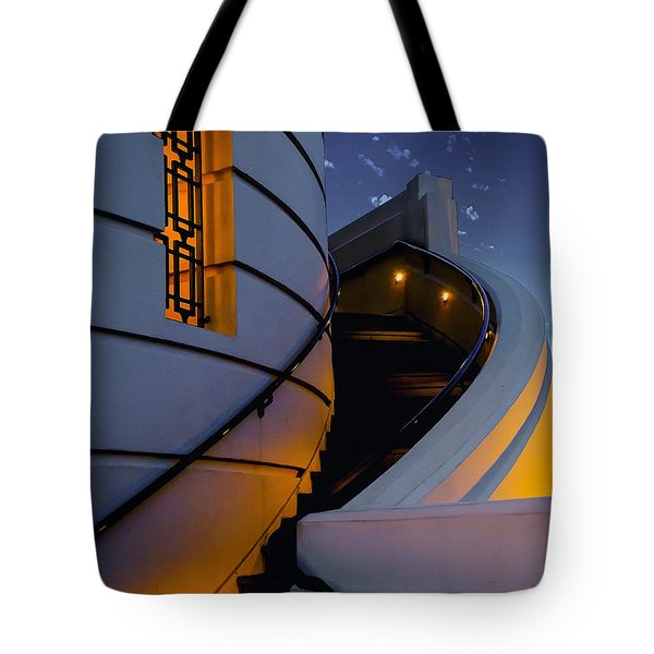 Griffith Observatory Side Entrance Tote Bag