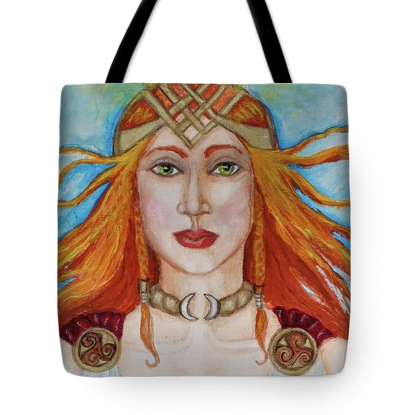 Brigidd Of The Sacred Flame Tote Bag
