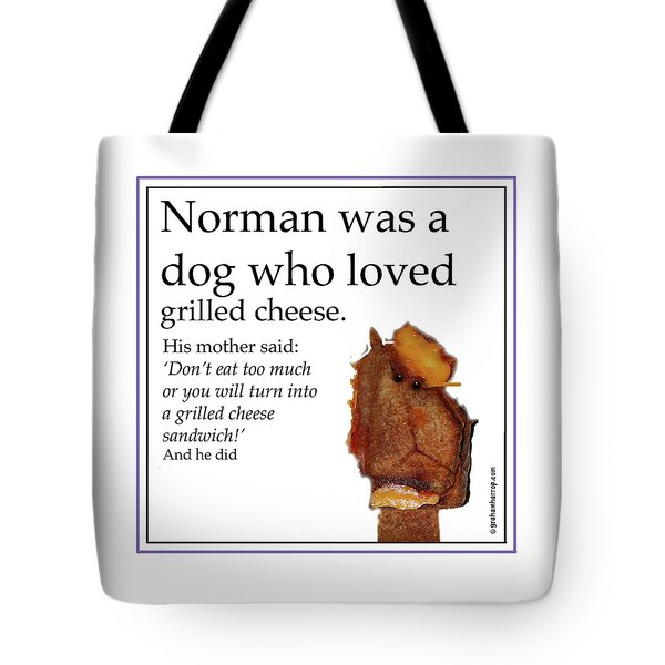 Tote Bag featuring the digital art Grilled Cheese Dog by Graham Harrop