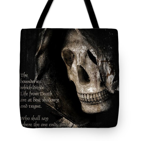Grim Reaper And Edgar Allan Poe Tote Bag