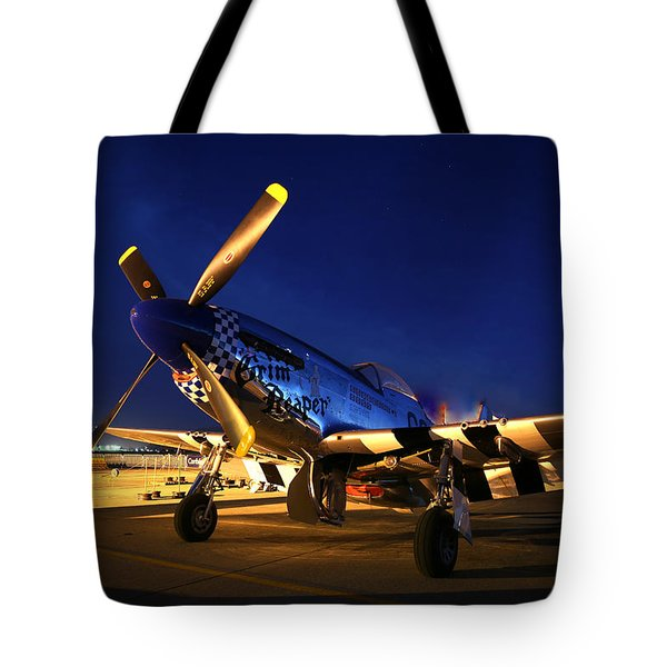 Tote Bag featuring the photograph Grim Reaper At Hollister Air Show by John King