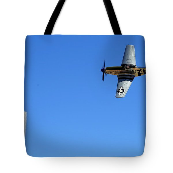 Grim Reaper.  P51d.  Not Just Your Father's Show Plane Tote Bag
