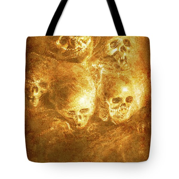 Grim Tales Of Burning Skulls Tote Bag by Jorgo Photography - Wall Art Gallery