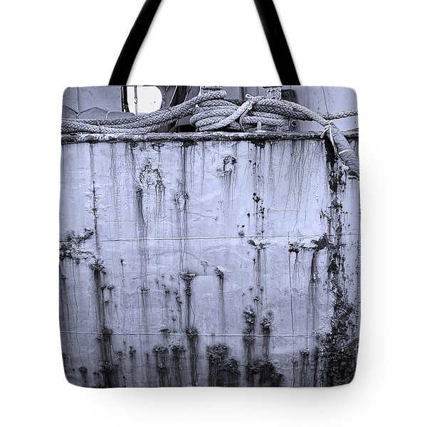 Tote Bag featuring the photograph Grimy Old Ship Hull by Yali Shi