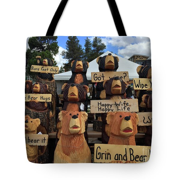 Grin And Bear It Tote Bag by Beth Saffer