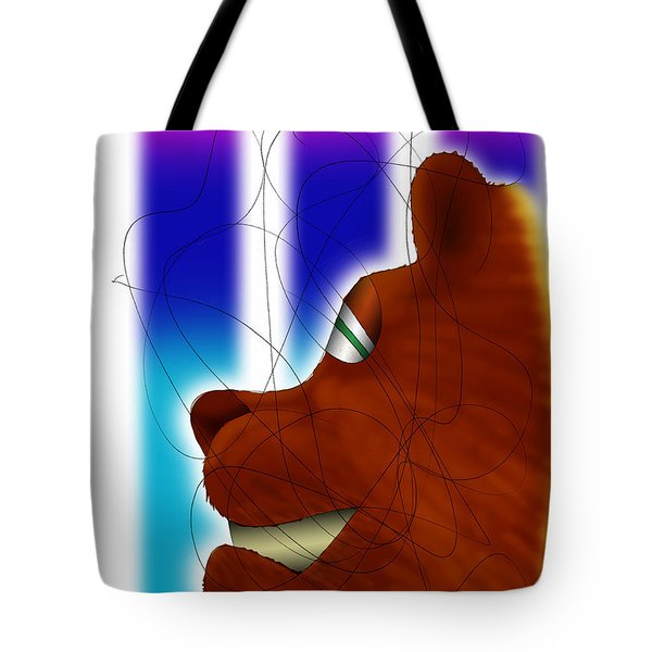 Grin And Bear It Tote Bag by Ismael Cavazos