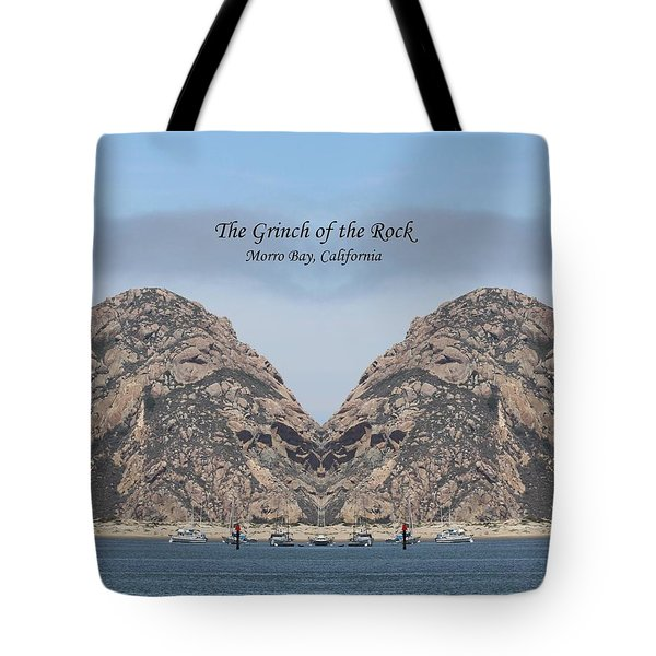 Grinch Of The Rock Greeting Card Tote Bag