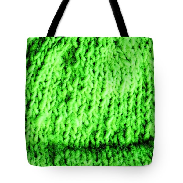 Grinch Knit Tote Bag