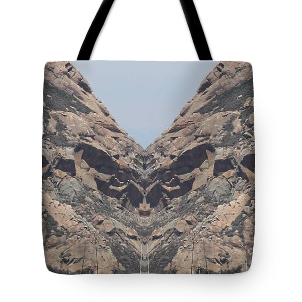 Grinch Of The Rock Face Tote Bag