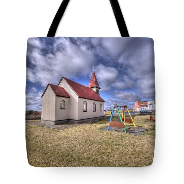 Grindavik Church Iceland Enhancer Tote Bag