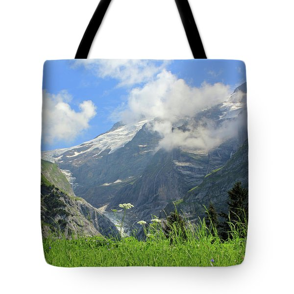 Grindelwald Glacier In Switzerland Tote Bag by Pixelshoot Photography