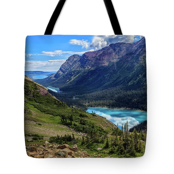 Grinell Hike In Glacier National Park Tote Bag