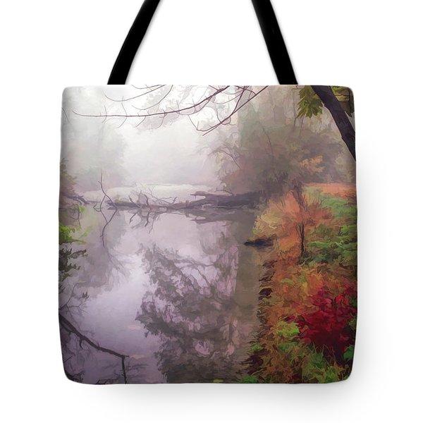 Grings Mill Fog 015 Tote Bag