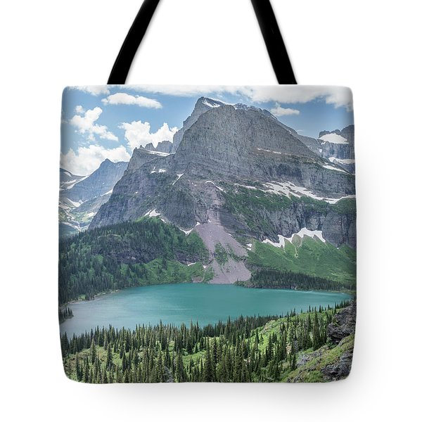 Grinnell Lake From Afar Tote Bag