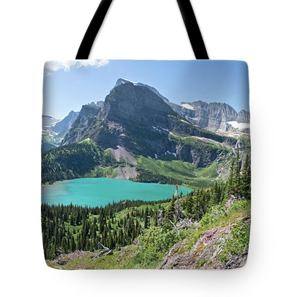 Grinnell Lake Panoramic - Glacier National Park Tote Bag