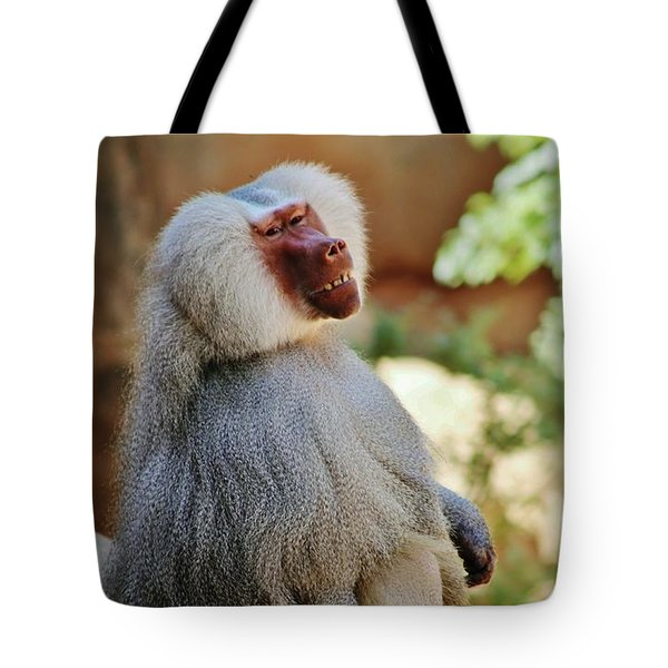 Grinning Baboon Tote Bag