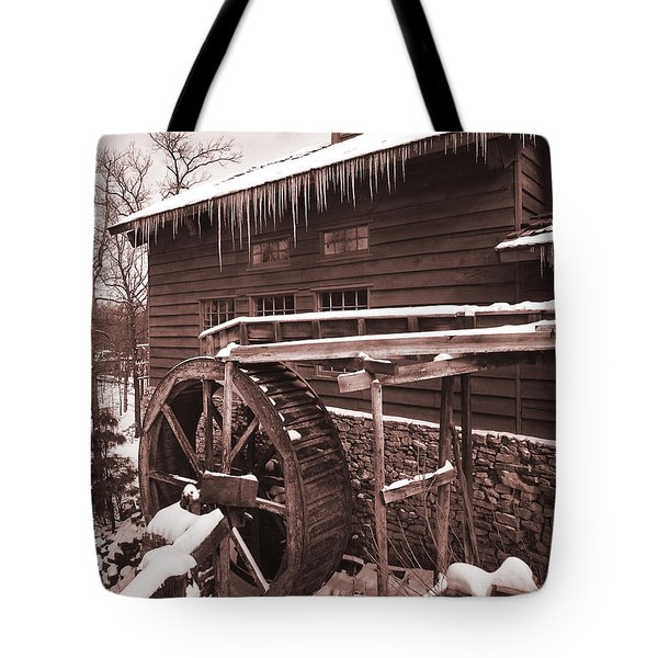 Grist Mill At Siver Dollar City Tote Bag