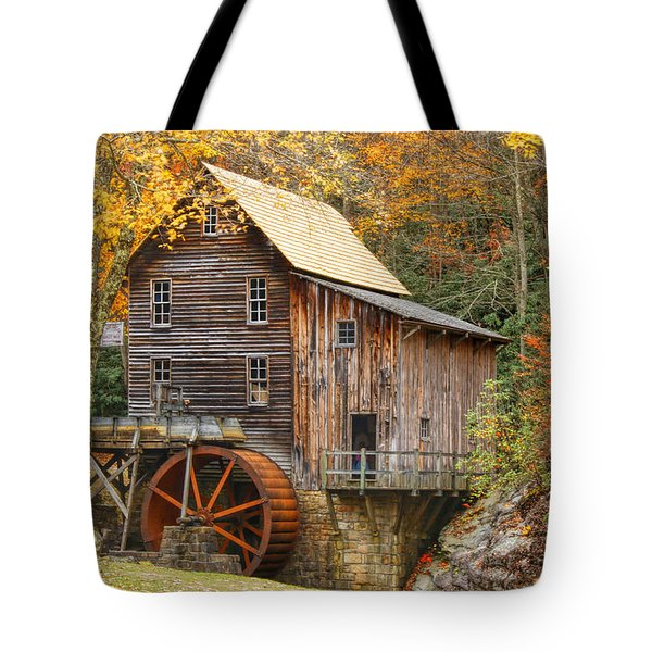Grist Mill In Autumn Hues Tote Bag