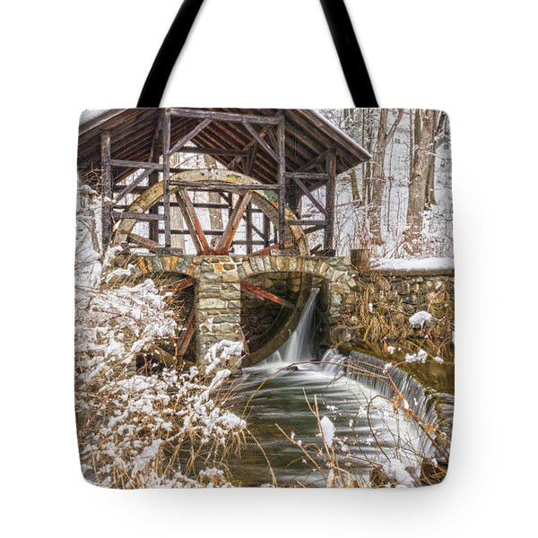 Grist Mill In Fresh Snow Tote Bag