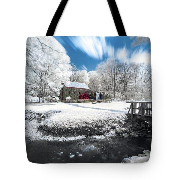 Grist Mill In Halespectrum Tote Bag