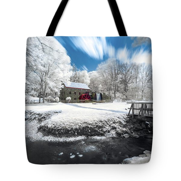 Tote Bag featuring the photograph Grist Mill In Halespectrum by Brian Hale