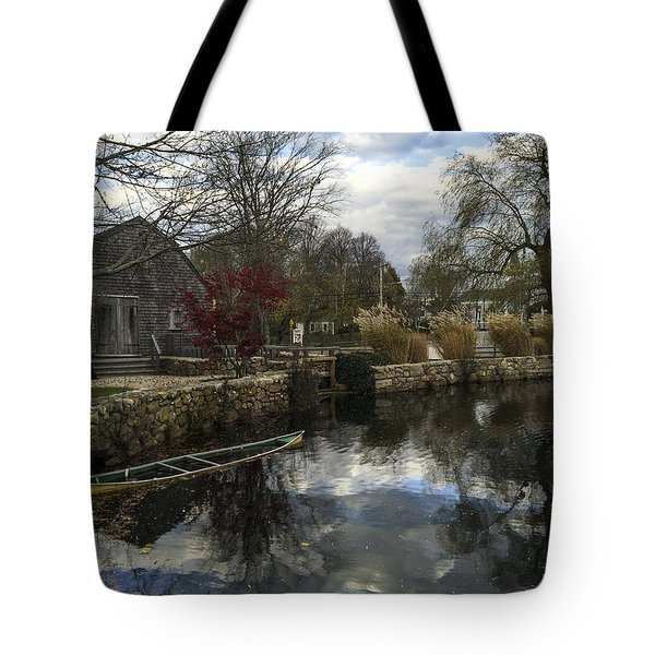 Grist Mill Sandwich Massachusetts Tote Bag
