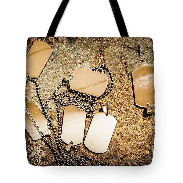 Grit Of War Tote Bag