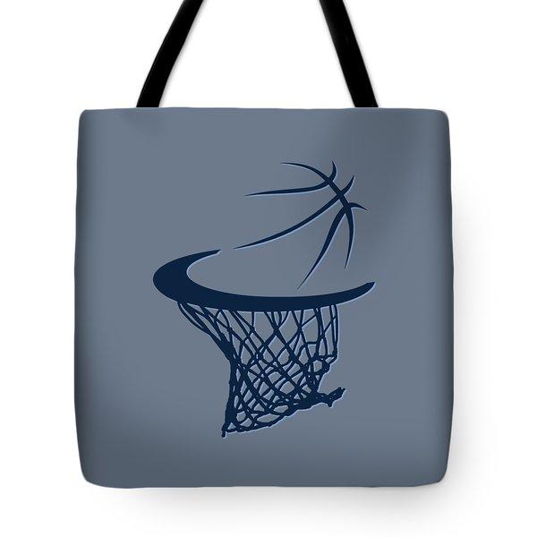 Grizzlies Basketball Hoop Tote Bag