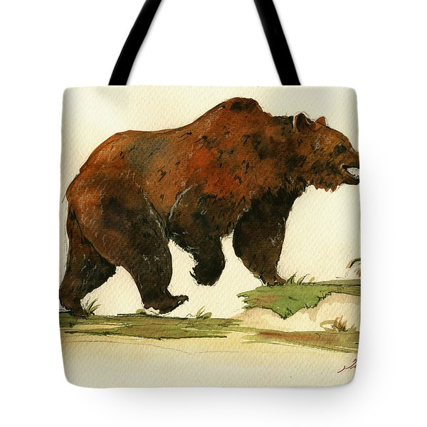 Grizzly Bear Art Tote Bag